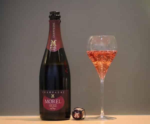 champagne pur rosé coupe de champagne