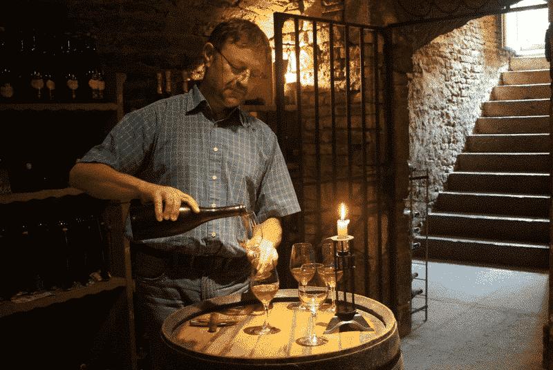 Rosé des Riceys tasting cellar