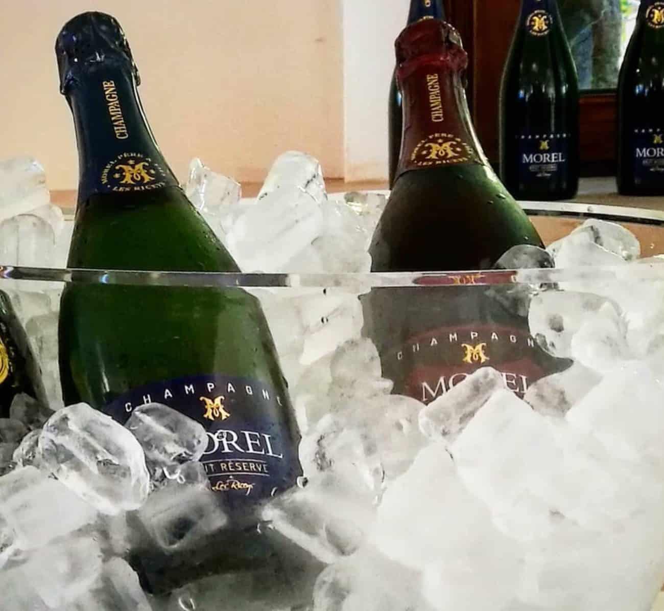 Champagne Brut Réserve et Champagne Rosé Cooling