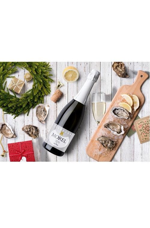 Champagne Morel Extra Brut oyster